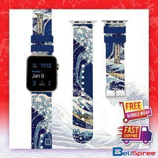 Brand New Wave of Kanagawa Custom Design Japan Edition TPU Wrist Strap Apple Watch Band 38mm 42mm for iWatch Series 4 3 2 1