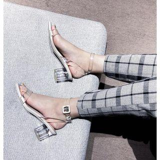 Zara 類似款 透明高跟涼鞋 透明跟 夏日 夏天