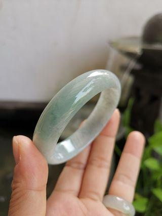 New Jadeite Jade Bangle 55mm