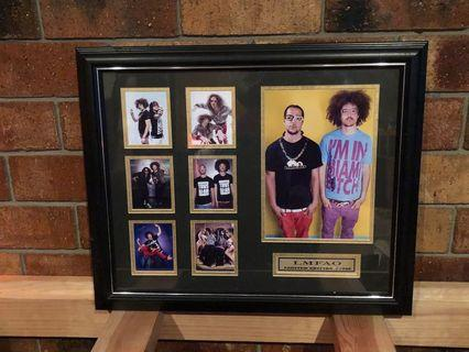 LMFAO limited edition framed memorabilia
