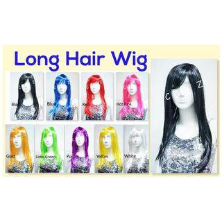 < PREMIO > Long Hair Wig Long Straight Hair Wig Party Hair Wig Party Accessories Hair Wig Cosplay Events D & D Performance Party Item