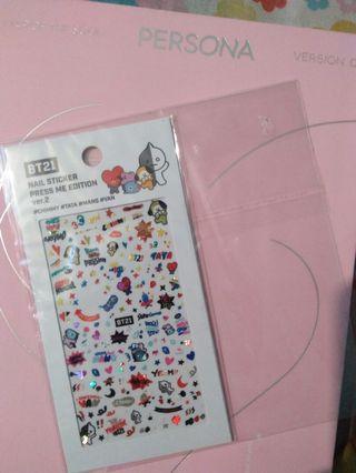 #mauvivo Nail Sticker bt21 official