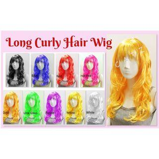 < PREMIO > Curly Hair Long Curly Hair Wig Party Hair Wig Party Accessories Hair Wig Cosplay Events D & D Performance Party Item