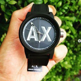 Original Armani Exchange Black Silicone Watch AX1451