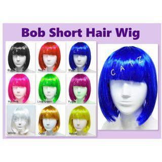 < PREMIO > Bob Hair Wig Short Hair Wig Party Hair Wig Party Accessories Hair Wig Cosplay Events D & D Performance Party Item