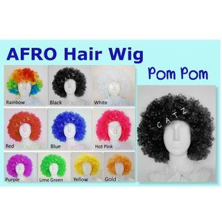 < PREMIO > Afro Hair Wig Curly Clown Hair Wig Pom Pom Hair Party Hair Wig Party Accessories Hair Wig Cosplay Events D & D Performance Party Item Props