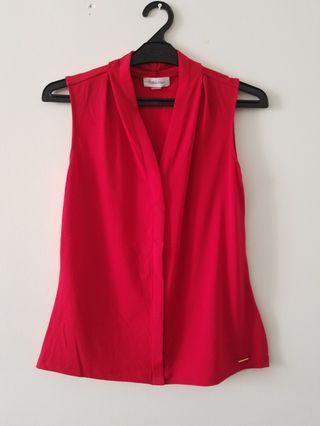 Calvin Klein red top #mauvivo #ramadansale