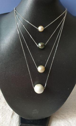 LuLuTong Tahitian pearl necklace set