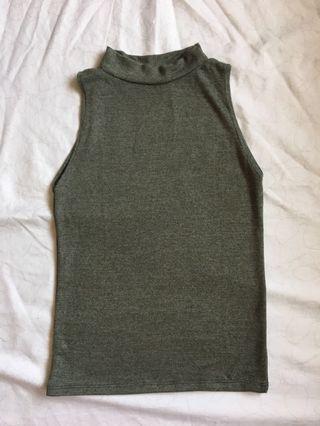 mock neck sleeveless