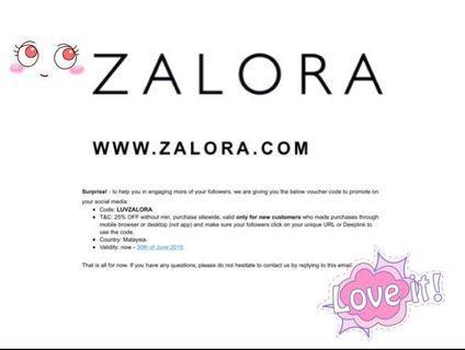 Raya shopping Zalora 25% + 25% Discount