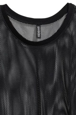 h&m black netted dress