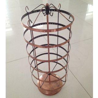 Copper earring holder stand