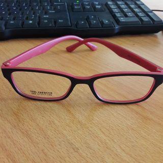 #MAUVIVO New Kacamata Bening Fashion Import Frame Merah Polos Bs Ganti Lensa