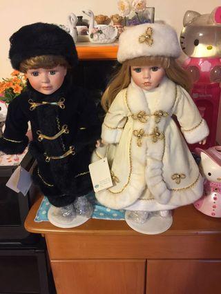 一對陶瓷娃娃