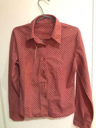 🚚 紅格襯衫