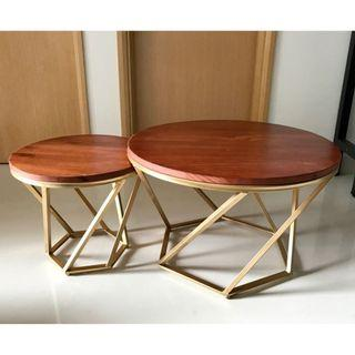 Classy Round Coffee Table Set (Ready Stock)