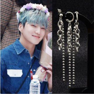 Korean Chain and Beads Long Dangle Earring / Clip On (PO)