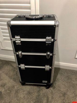 Travel makeup suitcase