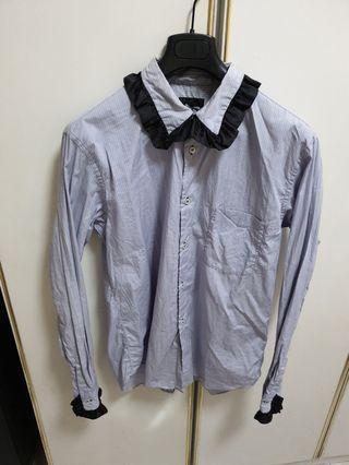 Comme Des Garcons Homme Plus blue stripes shirt
