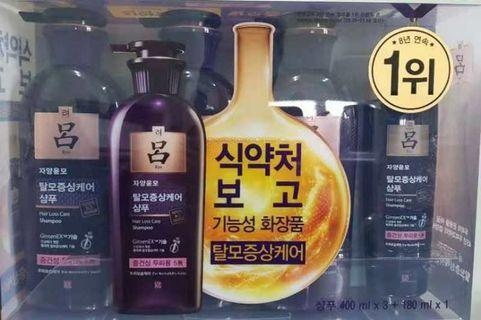 【紫呂】韓國Ryo 防脫髮洗頭水套裝 產後掉髮恩物