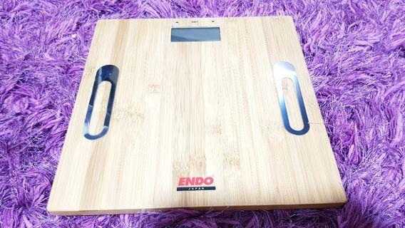 🚚 BN digital body weighing scale, platform made w natural bamboo
