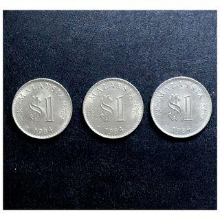 1 Ringgit Parlimen Malaysia 1984 (EF) - Duit Lama/ Old Coin [Sole per piece]