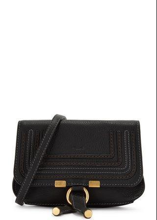 Chloe Marcie black leather belt bag
