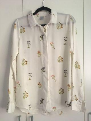 hnm floral shirt