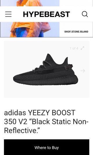 Yeezy black static