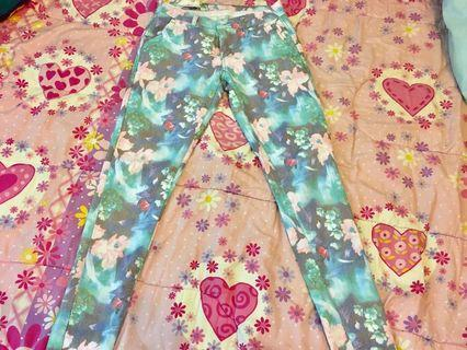 Floral pastel jeans