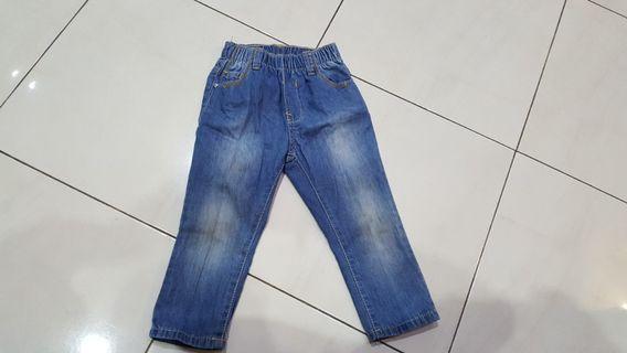 Celana panjang merk coolbaby size normal  2-3th