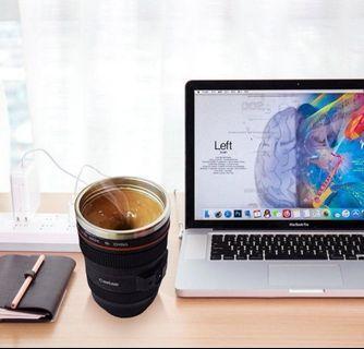 ✨✨READY STOCK✨✨❗❗HOT DEAL❗❗ Self Stirring Stainless Steel Camera Lens Mug