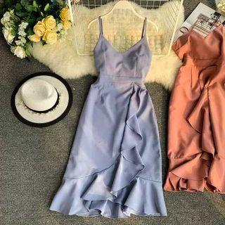 Elegant Pastel Blue Dinner Dress