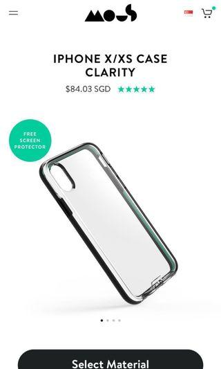 Mous Clarity Case for iPhone X/XS (Latest Release from Mous)