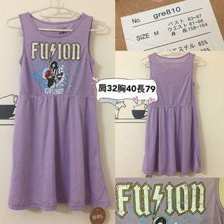 全新日貨GRL紫色柔棉背心洋裝