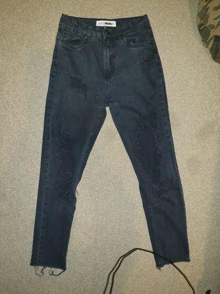 [Supré] Black Vintage-looking High waist jeans
