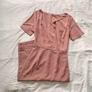 Love Bonito Ryla Ruched Shoulder Midi Dress