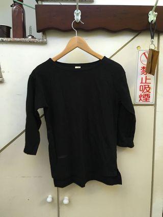 棉質黑上衣