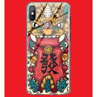 💥 iPhone XS Max Tempered Glass Casing - 年兽抱财💥