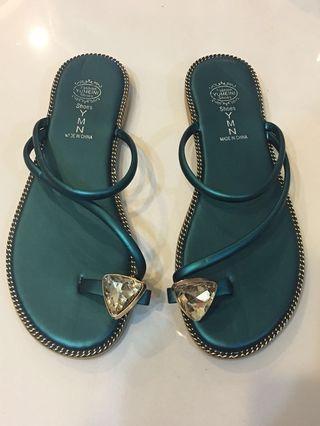 🚚 寶石綠色涼鞋🏖️(夏季首選)