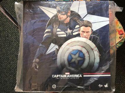 hottoys captain america stealth mms243 set裝