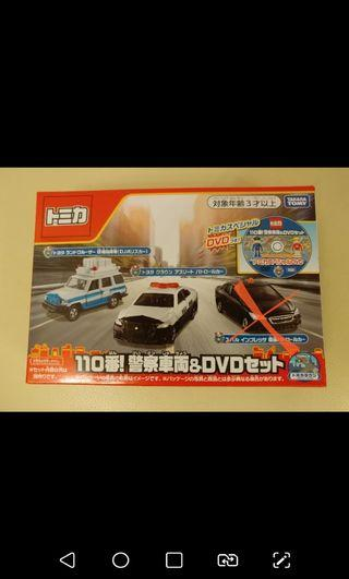 Tomica 110 番! 警察車両&DvD police box set