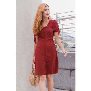 BNWT Le Chic Burgundy Midi Dress