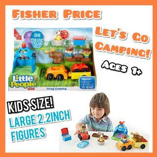 Fisher Price Little People Let's Go Camping Set Toddler Kids Toy