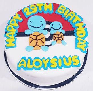 Customised Pokemon birthday cake