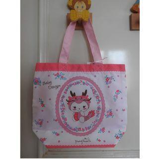 NEW!! Pink Baby Dragon Tote Bag