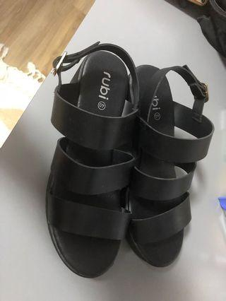 Rubi Black Heeled Sandals