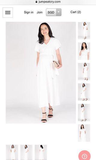 Amrita Nursing Dress in White