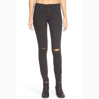 articles of society black skinny jeans with knee slit size 6