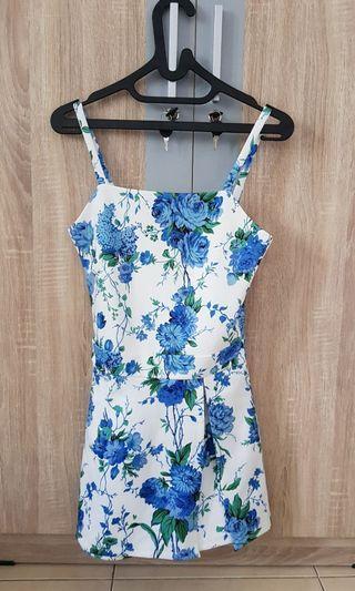 Floral Blue Jumpsuit